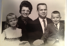 Juli's family with brother Bill, an adoptee - Then